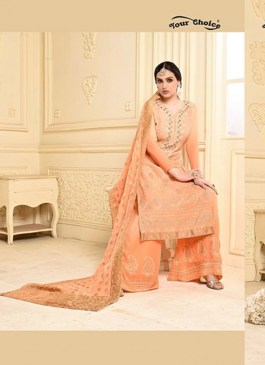 Peach Bamberg Georgette Palazzo Suit LASHA 2904 By Your Choice