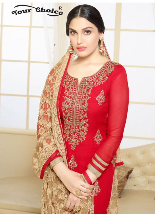 Maroon Pure Georgette Straight Cut Suit Mariya 2483 By Your Choice