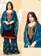 Brown Faux Georgette Pakistani Sharara Suit SHEHZADI 2890 By Your Choice