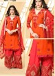 Orange Faux Georgette Pakistani Sharara Suit SHEHZADI 2893 By Your Choice
