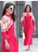 Pink Faux Georgette Designer Kurti 2855 Tipsy Topsy Vol 5 By Your Choice Surat Size L