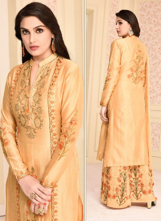 Gold Net Palazzo Suit 2933 Jumera By Your Choice Surat