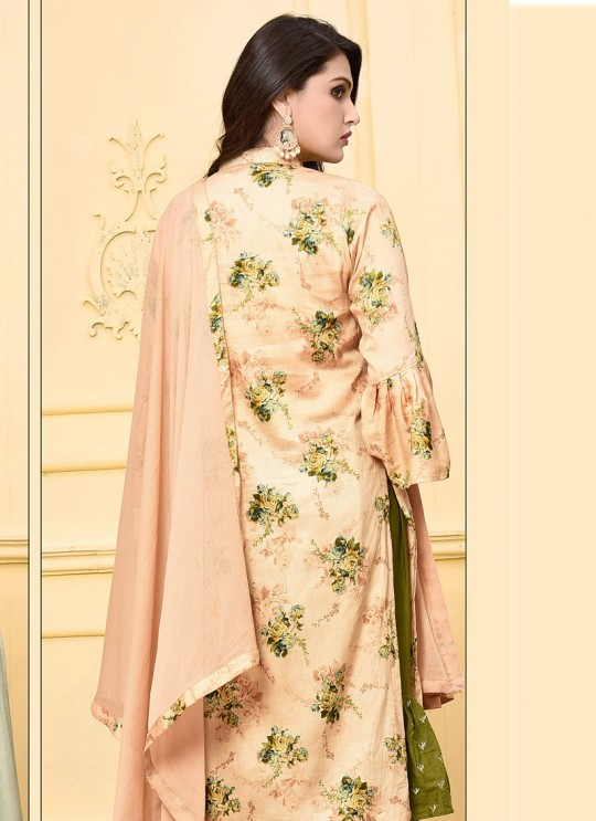 Peach Jam Silk Cotton Sharara Style Suit 2965 Ding Dong Vol 2 By Your Choice Surat
