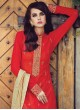 Red Silk Designer Suit 19005 FUSION ADDICT BY ZOYA 19001 TO 19007 SERIES By Zoya