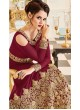 Aashirwad Veeda Red Faux Georgette Anarkali Suit By Aashirwad Veeda-01A (Red)