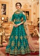 Aashirwad Wedding Affair Green Melbourne Silk Anarkali Suit By Aashirwad Wedding Affair-002