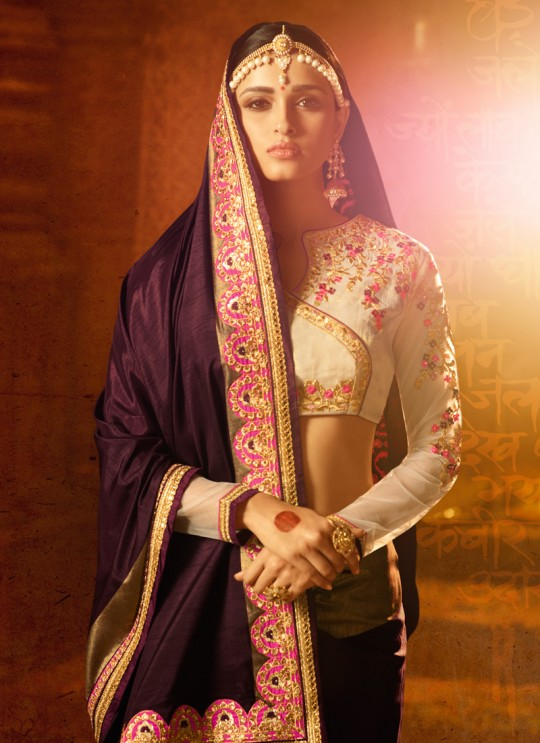 Purple Silk Wedding Saree Sakshi Vol 4 1181 By Ardhangini