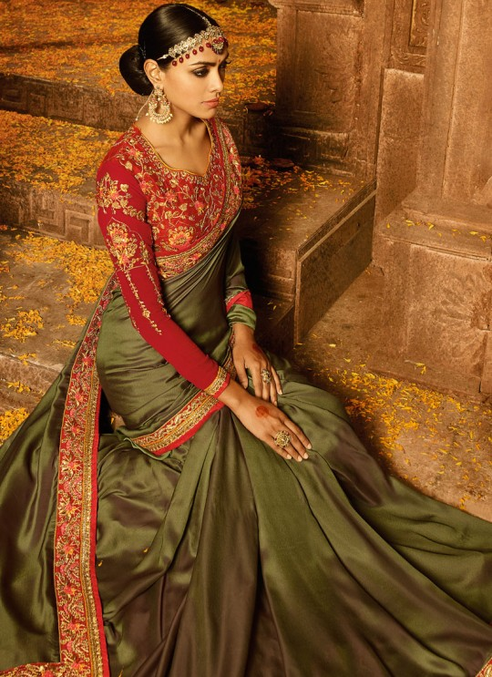 Green Silk Wedding Saree Sakshi Vol 4 1192 By Ardhangini
