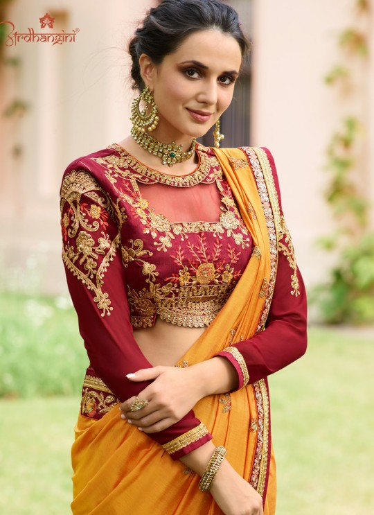 Mustard Cotton Silk Wedding Saree Srushti Vol 1 4116 By Ardhangini