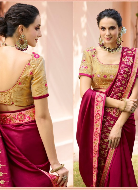 Magenta Silk Wedding Saree Srushti Vol 1 4118 By Ardhangini