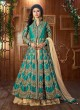 Teal Green Art Silk Embroidered Jacket Style Anarkali SASHI VOL 6 12047 By Arihant