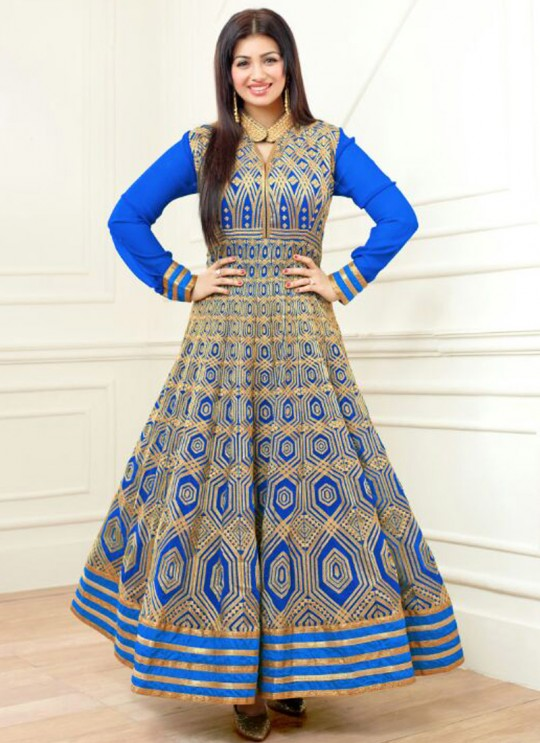 Blue Faux Georgette Embroidered Anarkali Suit SASHI VOL 6 12060 By Arihant
