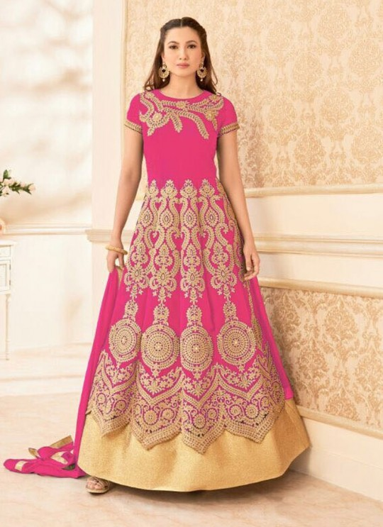 Magenta Georgette Embroidered Anarkali Suit HAMIM VOL 7 16016B Color By Arihant
