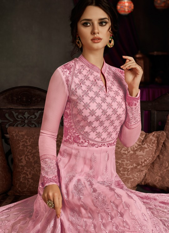 Pink Georgette Embroidered Floor Length Anarkali RIHANNA VOL 2 27009 By Arihant