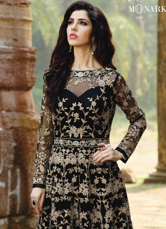 Black Net Embroidered Floor Length Anarkali MONARK 1603 By Bela Fashion
