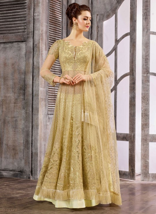 Gold Net Embroidered Skirt Kameez 1611-1619 1618 By Bela Fashion
