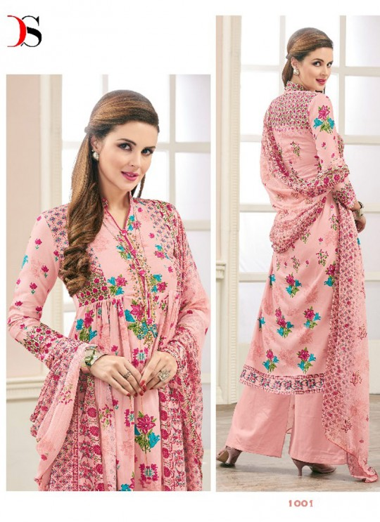 Pink JAM SILK COTTON Pakistani Salwar Kameez ATTRACTION NX 1001 By Deepsy