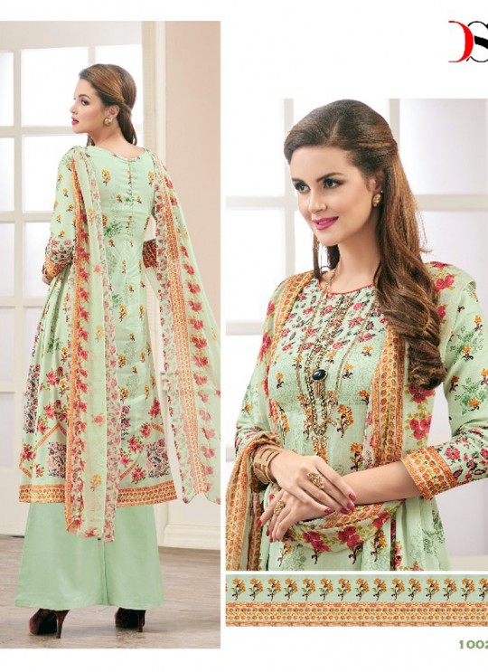 Green JAM SILK COTTON Pakistani Salwar Kameez ATTRACTION NX 1002 By Deepsy