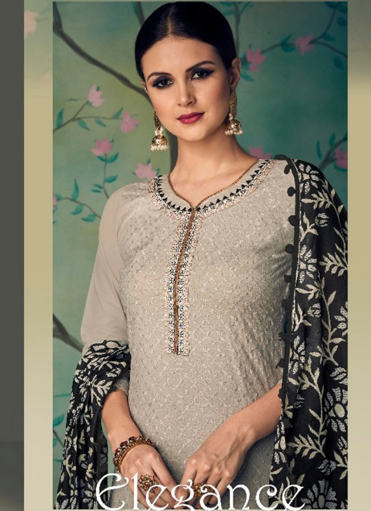 Grey Cotton Pakistani Salwar Kameez KARIGIRI NX 13004 By Deepsy