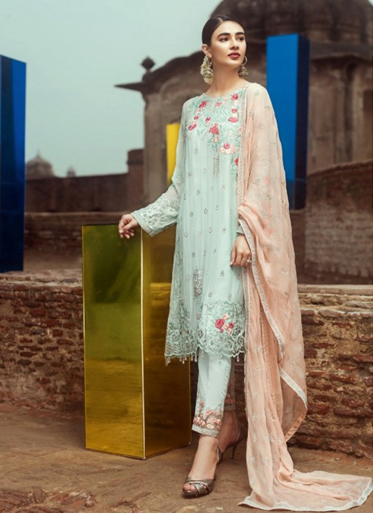 Sea Green Faux Georgette Pakistani Salwar Kameez IMORZIA-2 200506 By Deepsy