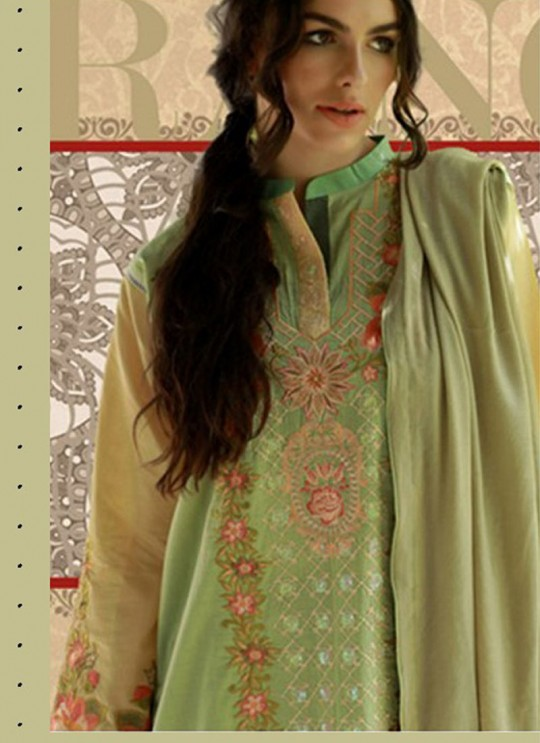 Green Cotton Pakistani Salwar Kameez RINAAZ Vol-2 200801 By Deepsy