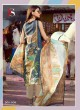 Blue Cotton Pakistani Salwar Kameez MUSLIN-3 300006 By Deepsy
