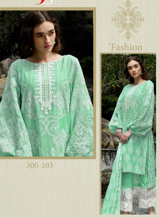 Green Cotton Pakistani Salwar Kameez NOMI ANSARI 300103 By Deepsy