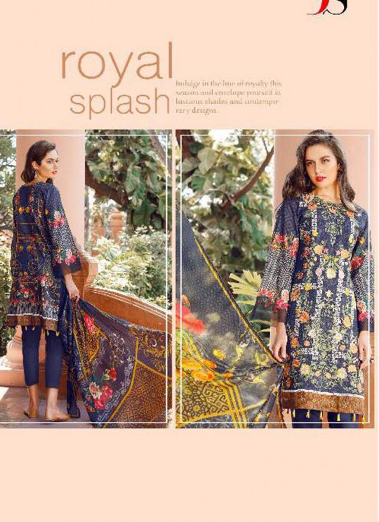 Blue Cotton Pakistani Salwar Kameez FLORENT Vol-14 60006 By Deepsy