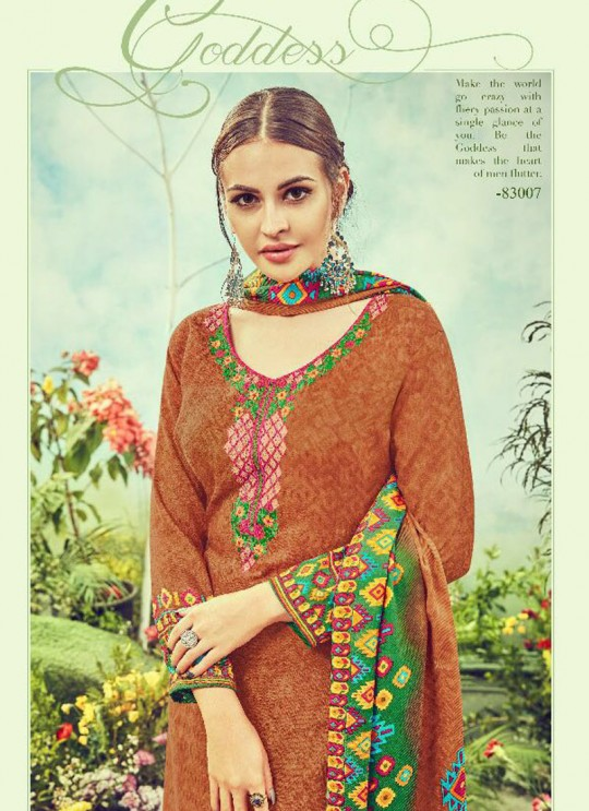 Orange Cotton Satin Straight Cut Suit DEEPSY FLORENCE Vol-3 83007 By Deepsy