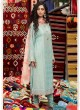 Teal Blue Cotton Pakistani Salwar Kameez MARIA B-3 98007 By Deepsy