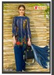 Blue Cambric Cotton Embroidered Pakistani Salwar Suit ROSEMEEN RIMZIM BY FEPIC 1001 TO 1007 SERIES Fepic 1001