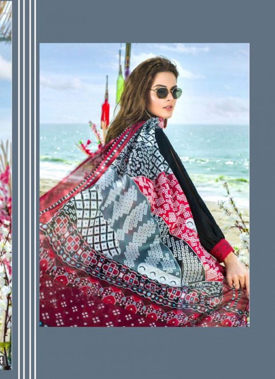 Black Cambric Cotton Embroidered Pakistani Salwar Suit ROSEMEEN RIMZIM BY FEPIC 1001 TO 1007 SERIES Fepic 1004