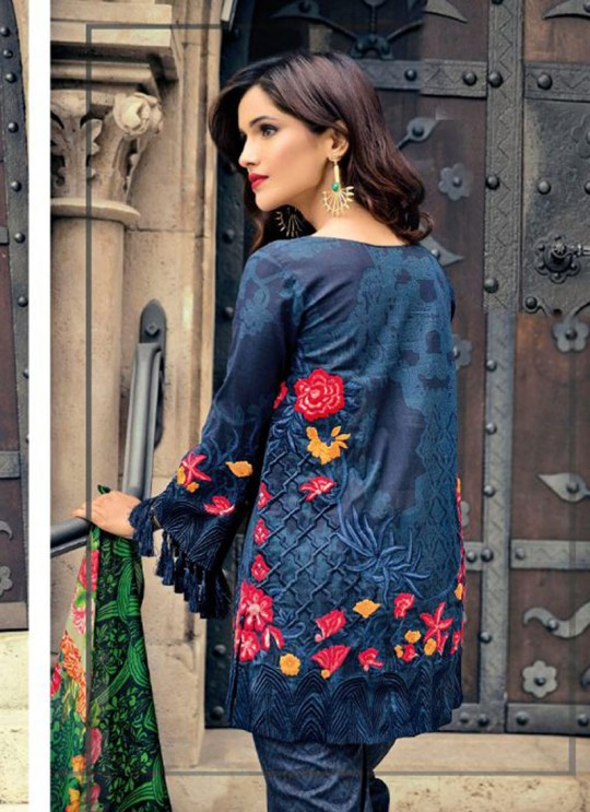 Blue Cambric Cotton Embroidered Pakistani Salwar Suit ROSEMEEN CRAFTED LAWN BY FEPIC 17001 TO 17006 SERIES Fepic 17001