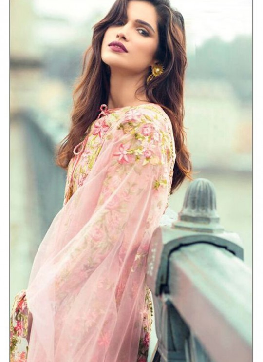 Pink Cambric Cotton Embroidered Pakistani Salwar Suit ROSEMEEN CRAFTED LAWN BY FEPIC 17001 TO 17006 SERIES Fepic 17003