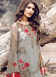 Grey Georgette Embroidered Pakistani Salwar Suit ROSEMEEN ELITE BY FEPIC 3001 TO 3006 SERIES Fepic 3005