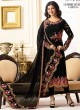 Black Georgette Churidar Suits SIMAR 18009 SERIES 18010 By Glossy