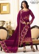 Purple Georgette Churidar Suits SIMAR 18009 SERIES 18010D Color By Glossy