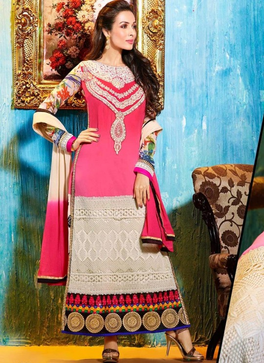 Pink Fancy fabric Straight Suit 2706 Series 2706 By Glossy