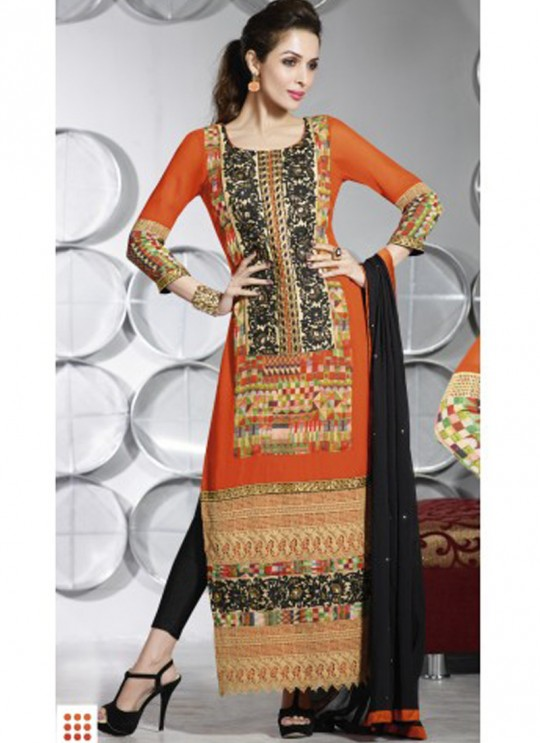 Orange Fancy fabric Straight Suit 2804 Series 2804 By Glossy