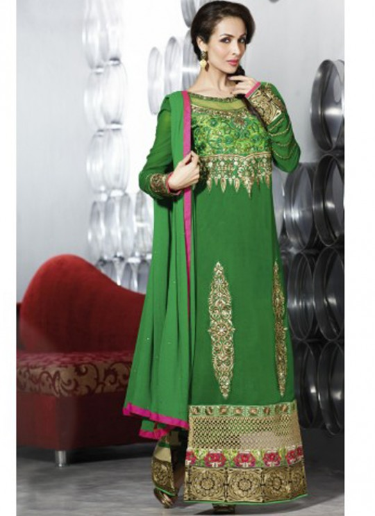 Green Fancy fabric Straight Suit 2804 Series 2805 By Glossy