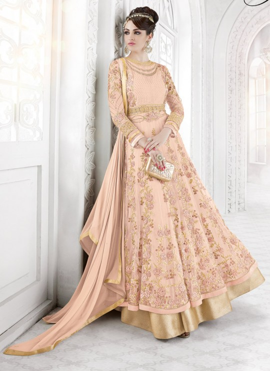 Pink Georgette Floor Length Anarkali BEAUTY SHADES 7209 Pink Color By Glossy