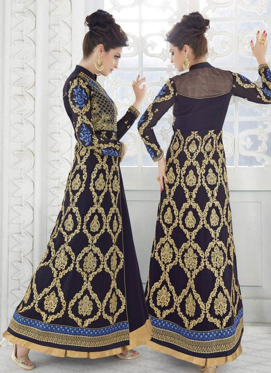 Blue Georgette Skirt Kameez SAPPHIRA 7216 By Glossy