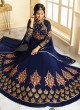 Blue Georgette Floor Length Anarkali AYESHA SIMAR 9010 By Glossy