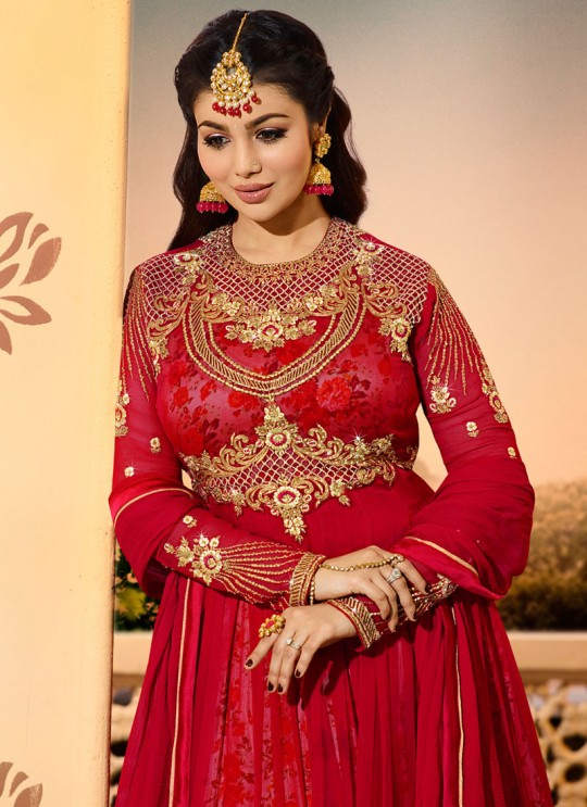Maroon Georgette Floor Length Anarkali AYESHA Vol-2 9022 By Glossy