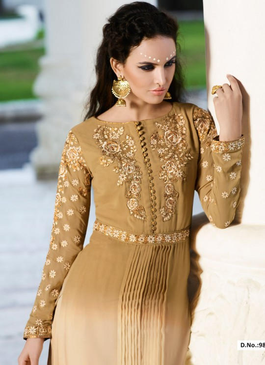 Beige Georgette Palazzo Suit VOGUISH 9807 By Glossy